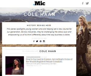 History Begins Here by Mic for Cole Haan